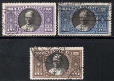 Vatican City 1933 Pope Pius XI   LI, L1.25 & L2 Values  SG.28/30 Used