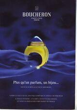 lot pages publicitaires de magazines anciens - publicités parfums BOUCHERON