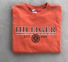 Vintage Tommy Hilfiger Orange All American 1985 L/S T-Shirt Size Medium 90's