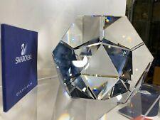 Swarovski Crystal Giant Octron Paper Weight 7456 090 000 Mib W/Coa