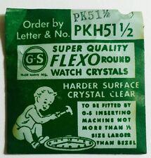 NOS GS PKH51 1/2 Flexo Lo-dome Pocket Watch Crystal Germanow Simon Mach. Company