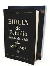 BIBLIA DE ESTUDIO SENDA DE VIDA  LETRA GRANDE PIEL NEGRA  REINA VALERA  DEL 1960