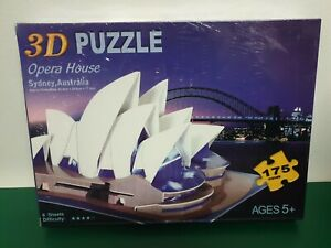 3D PUZZLE - SYDNEY OPERA HOUSE.  175 PIECES. BRAND NEW AND SEALED