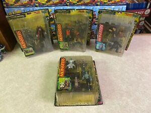 McFarlane 1997 Monsters Diorama Series 1 COMPLETE 1/18 Figure Set LOT of 4 NIP