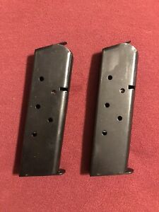 TWO COLT FACTORY MAGAZINE GOVERNMENT .45ACP 1911 7 ROUND BLUE