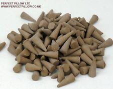 100 BLACK COCONUT  U.K. MADE  INCENSE CONES>AMAZING BRITISH VALUE,FREE POSTAGE
