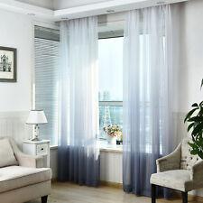 Valances Tulle Voile Door Window Curtain Drape Panel Sheer Scarf Divider Dec