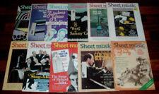 Lot Of 11 Vintage Sheet Music Magazine 1988 - 1989 STANDARD ORGAN Sammy Cahn ++