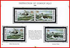 👉 MARSHALL IS. 1992 WWII EVENTS/CONVOY PQ17 to RUSSIA mnh SHIPS, SUBMARINES