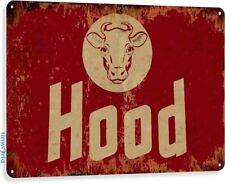 Hood Milk Cow Cottage Farm Rustic Metal Décor Sign