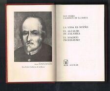Calderon De La Barca Teatro Escogido La Vida Es Sueno Crisol Aguilar Minibook