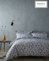 Bianca BRUSHSTROKES Geometric Squares 100% Cotton Soft Duvet/Quilt Cover Set