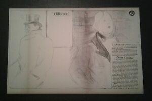 Vintage Toulouse Lautrec Oscar Wilde Theatre program lithograph Affiche Poster