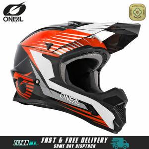 Oneal Motocross Helmet 1 Series Black Orange MX Helmet Dirt Bike Off Road Enduro