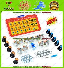 Potentiometer Assortment Kit With Knobs 1k 2k 5k 10k 50k 100k 250k 500k 1m Nuts