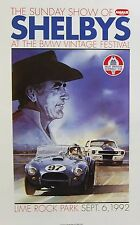 1965 Carroll Shelby R Model Ford Mustang AC Cobra SCCA Racing Poster SVT NHRA