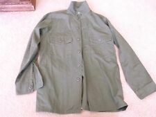 US ARMY OG 507 COTTON / POLY UTILITY MAN'S SHIRT SIZE 15.5 X 33