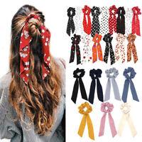 Boho Print Ponytail Scarf Bow Elastic Hair Rope Tie Scrunchie Ribbon Hair Band