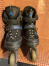 K2 Raider Inline Skates Youth Size 4-8, Black With Royal Blue.