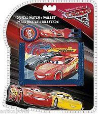 Orologio Digitale + Portafoglio Originali CARS 3 originale Disney Pixar 2017