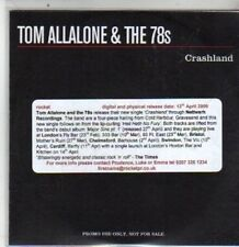 (DA741) Tom Allalone & The 78s, Crashland - 2009 DJ CD