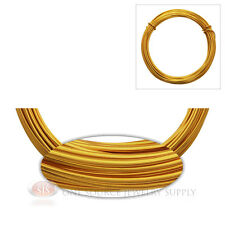 Gold Aluminum Craft Wire Wrapping 12 Gauge Sculpture 39 Ft. Coil Floral Jewelry