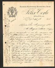"""LE PUY (43) DRAPERIES ROUENNERIES TOILES TISSUS """"Felix TERLE"""" en 1918"""