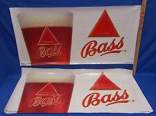 Bass Beer Poster Banner Plastic Indoor Outdoor Man Cave Decor Set of 2