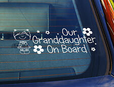 Static Cling Window Car Sign/Decal Our Granddaughter 100mm x 250mm 15 Lil Girl