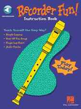 Recorder Fun! Teach Yourself the Easy Way! MUSIC BOOK W/ONLINE AUDIO NEW ON SALE