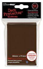 ULTRA PRO SOLID X50 PROTEGE CARTES marron brown POCHETTES DE PROTECTION MTG