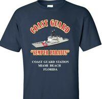 COAST GUARD STATION MIAMI BEACH-FLORIDA *COAST VINYL PRINT SHIRT/SWEAT