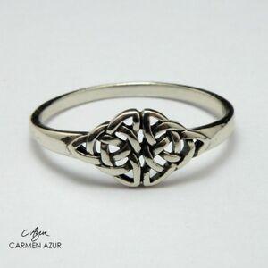 925 Sterling Silver Ring Celtic Knot Size J,L,L1/2,M,N1/2,O,P1/2,Q,R,S +Gift Bag