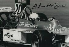 Arturo Merzario Firmato a Mano 12x8 Foto-Autografo di formula 1 F1.