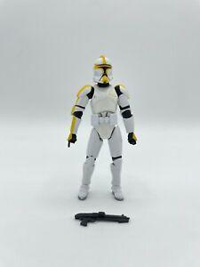 "2007 Hasbro Star Wars SAGA Legends Clone Trooper Commander 3.75"" Action Figure"