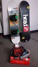 Head Flocka 4D 110 CM,  Jr Snowboard Package, SALOMON BOOTS, BURTON BINDING,FIT