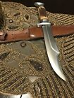 Vintage Fixed Blade Edge Brand 469 Solingen Germany Hunting Bowie Knife, Sheath.