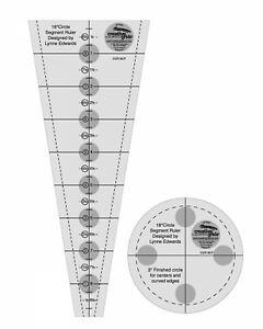 Creative Grids 18 Degree Dresden Plate Circle Quilt Ruler Set Gripper Dots