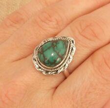 ORIGINALE Turchese anello argento sterling misura UK o-us 7 1/4