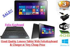 "Lenovo ThinkPad 10 2nd Gen 2 in 1 Tablet 10.1"" 1.60GHz 4GB 64GB Win10 Read Descr"