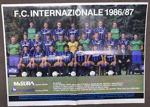 Calcio - Poster F.C. Internazionale 1986 / 87 - Avellino U.S.