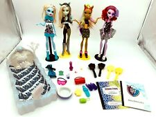 Monster High Lot of 4: Dance Class Operetta Clawvenus Frankie Abbey + Bed of Ice