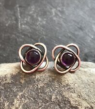 Amethyst Silver Decorative Studs