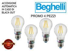 4 PEZZI BEGHELLI 56305 LAMPADINA LED ZAFIRO EMERGENZA 6W 230V E27 2700K NEW