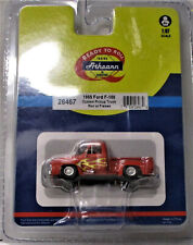 ATHEARN #26467 1955 Ford F-100 Red w/Flames HO Scale