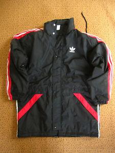 Parka Adidas Hiver Blouson Homme 90'S Noir rouge Rennes Veste Vintage - 174 / M