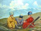 Conseils en Caucase Tableau Peinture à l'huile signé Jos. Sakr 43