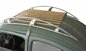 Dachgepäckträger in Edelstahl-Holz Ausführung für VW Volkswagen Käfer