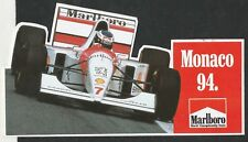 Original Marlboro McLaren MP4/9 Monaco GP 1994 Mika obligaba Etiqueta Autocollant