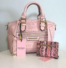 JUICY COUTURE Dome Satchel Crossbody Pink Handbag & Wallet Set Logo Purse NWT
